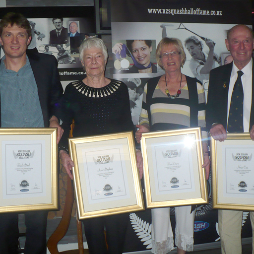 Four more champions have been inducted into the New Zealand Squash Hall of Fame